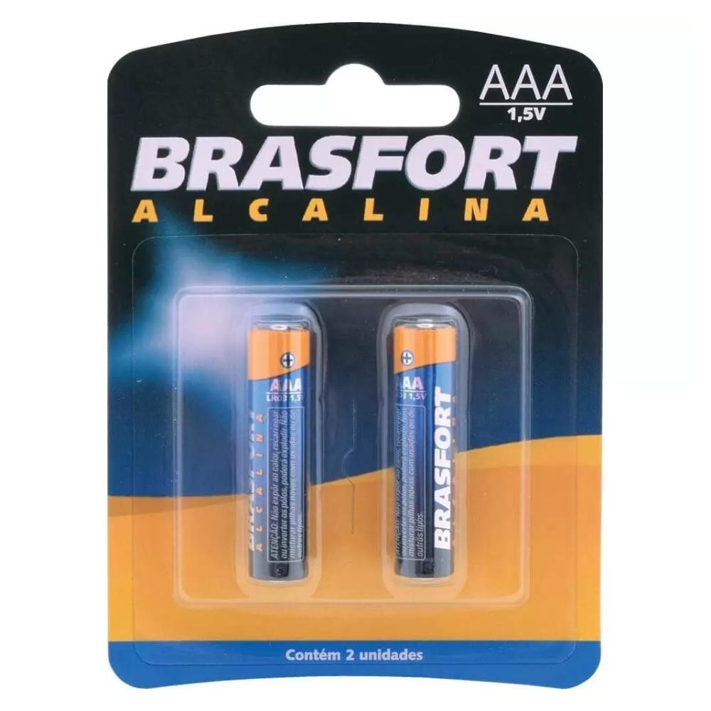 Pilha Alcalina AAA 1,5 Volts Brasfort