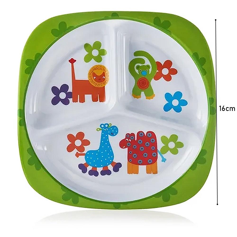 Prato Infantil Para Refeição Amigos Quadrado Baby Style
