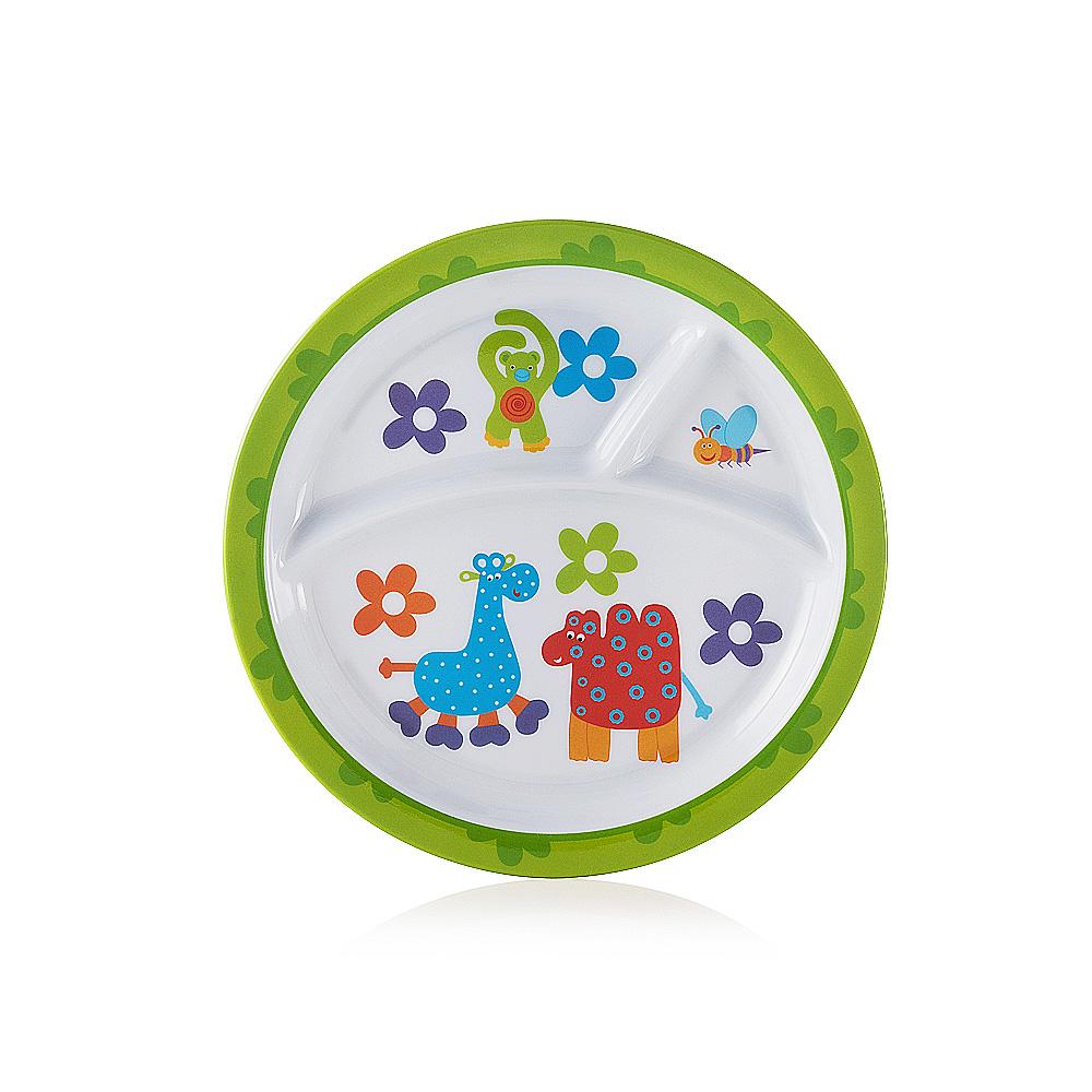Prato Infantil Para Refeição Amigos Redondo Baby Style