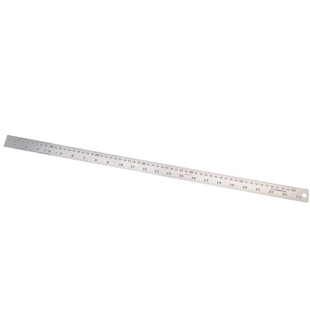 Régua Aço Inox 60cm 24 Polegadas Desenho Projeto Starfer