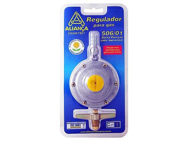 Regulador Registro Gás Borboleta Grande Botijão Aliança 506/01