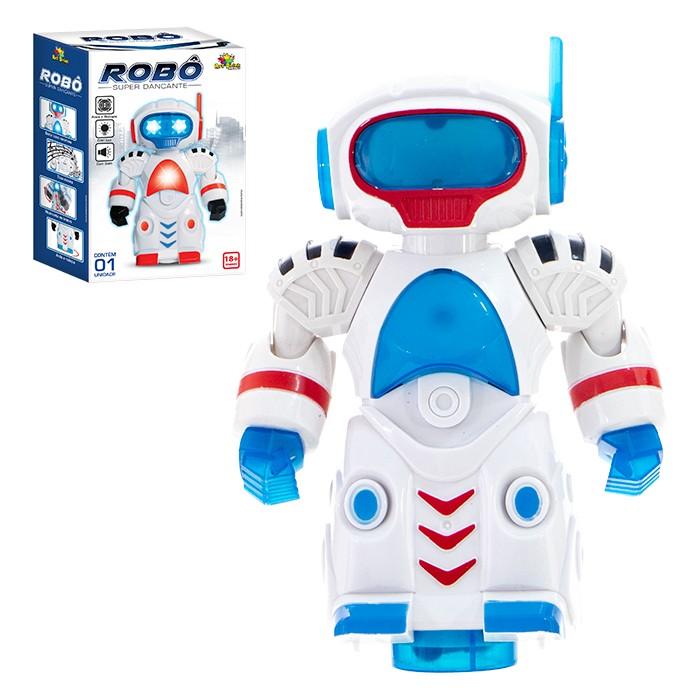 Robo Dancante Antena Luz E Som Brinquedo
