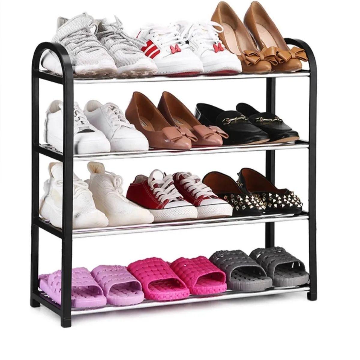 Sapateira 4 Prateleira Organizador Estante Multiuso 12 Sapato