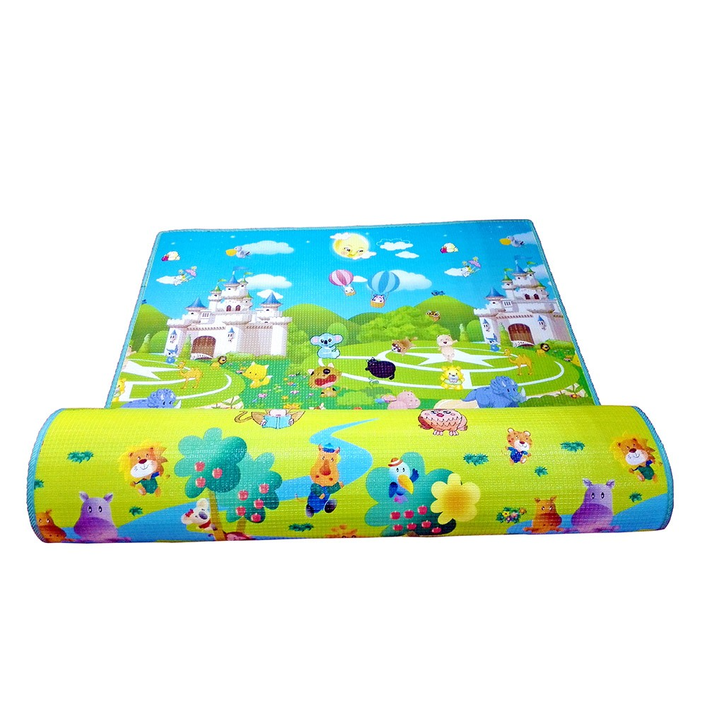 Tapete Tapetão Dobrável 1,2x1,8m Infantil Baby Style Castelo