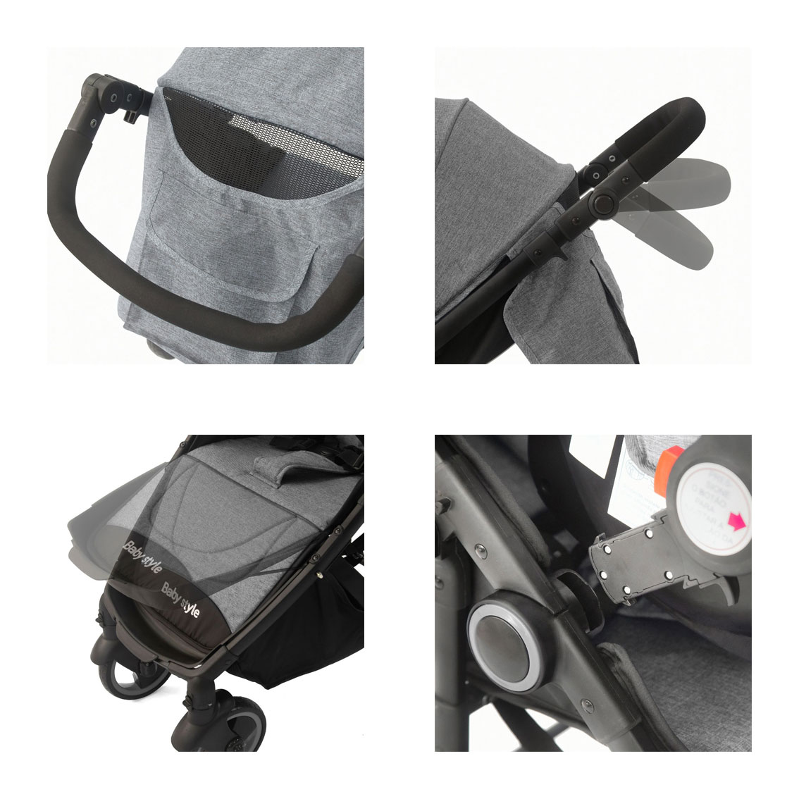 Travel System Bebê Victory 6 meses a 3 anos Baby Style Cinza
