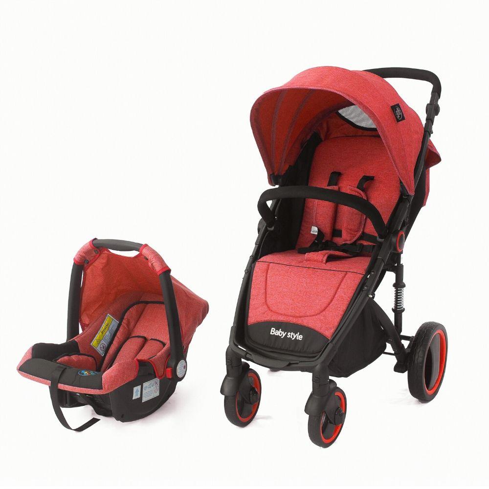 Travel System Bebê Victory 6meses 3 anos Baby Style vermelho