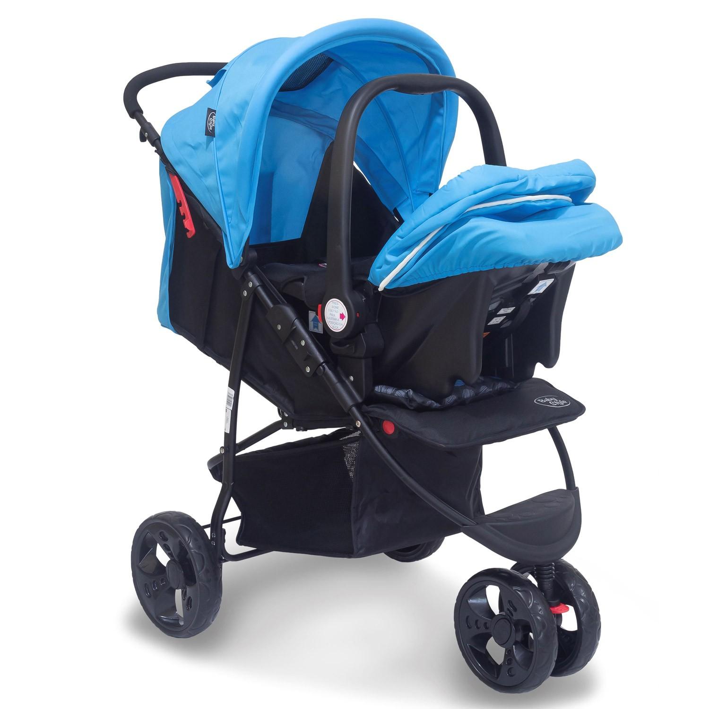 Travel System Carrinho Urban 0 a 2 anos Baby Style Azul