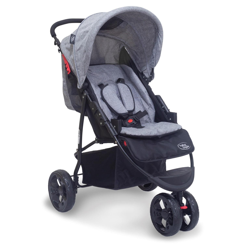 Travel System Carrinho Urban 0 a 2 anos Baby Style Cinza