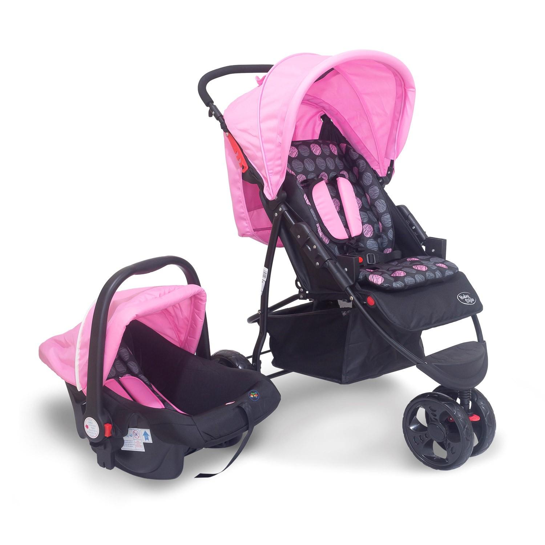 Travel System Carrinho Urban 0 a 2 anos Baby Style Rosa
