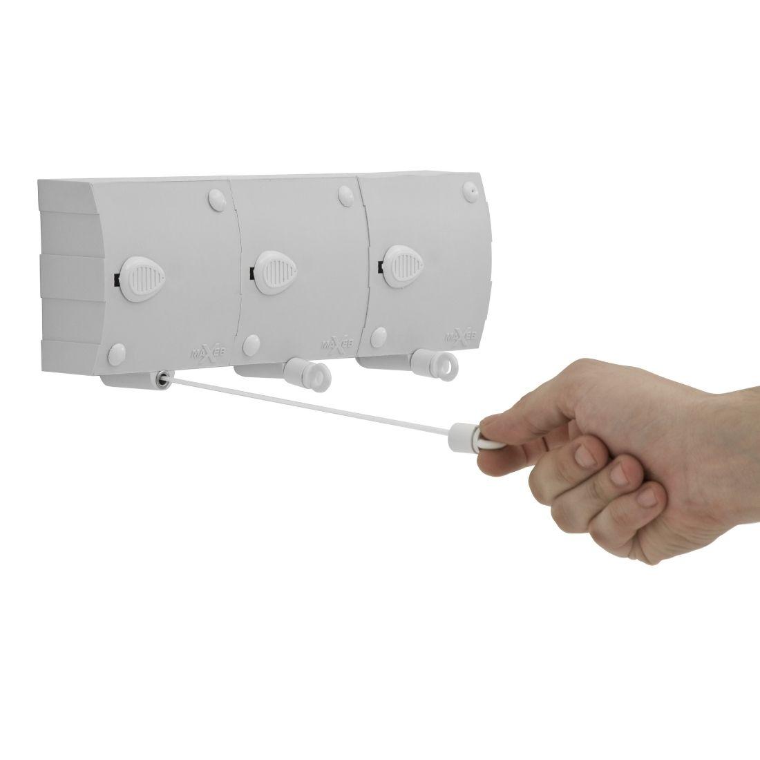 Varal Modular Recolhível Automático Seca Fácil Parede 3 Módulo 6m