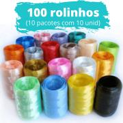 100 unidades de Fitilho Plástico 05mmx50m (10 Pacotes com 10 Rolinhos de Cores Sortidas)