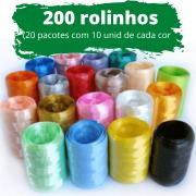 200 unidades de Fitilho Plástico 05mmx50m (20 Pacotes com 10 Rolinhos de cada cor)