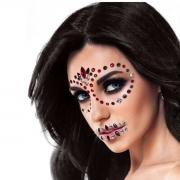 Adesivo Facial Face Sticker Halloween Cores e Modelos Sortidos