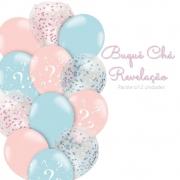 Balão 10 Balloontech Buquê Chá Revelação c/ 12