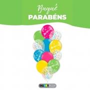 Balão 10 Balloontech Buquê Parabéns c/12