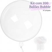 Balão Bubble Transparente 18 Polegadas (45 cm) Kit  c/100 unid