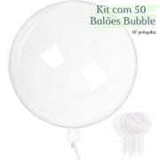 Balão Bubble Transparente 18 Polegadas (45 cm) Kit  c/50 unid