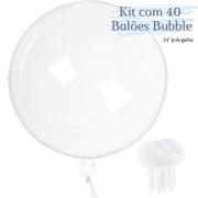 Balão Bubble Transparente 24 Polegadas (60 cm) Kit c/40