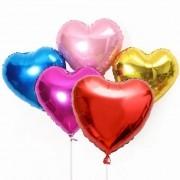 Balão Coração Metalizado 18 Polegadas Vazio