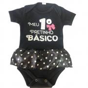 Body Primeiro Pretinho Básico Bebê