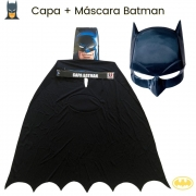 Capa + Máscara do Batman Infantil