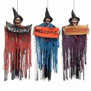 Enfeite Caveira  Welcome Som/Luz 1metro