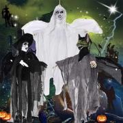 Enfeite Halloween Asas Som e Luz