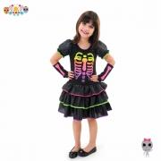 Fantasia Caveirinha Neon Infantil (AJ)