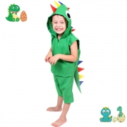 Fantasia Dinossauro Infantil Curta (Verde) FF