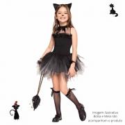 Fantasia Gatinha Preta Infantil (FF)