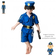 Fantasia Policial Tommy Infantil Mas. Curta