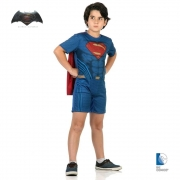 Fantasia Super Homem Infantil Curta Batman X Super (SL)