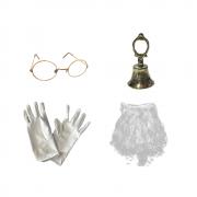 Kit Acessórios Papai Noel (Óculos, Sino, Luva e Barba)