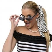 Kit Anos 60 (Faixa,Óculos, Brinco,Colar)