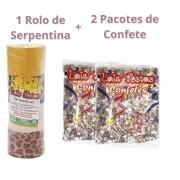 Kit Carnaval com 2 Confetes 120g + 1 Serpentina (c/20 rolinhos)