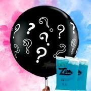 Kit chá revelação Menino- Balão gigante + 2 Pó Colorido Azul