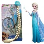 Kit Frozen (Varinha, Coroa, Trança)