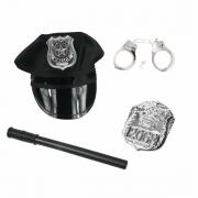 Kit Policial (Quepe+Cassetete+Insignia+Algema)