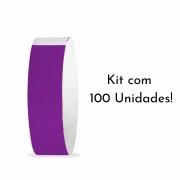 Kit Pulseira de Identificação c/100 - Roxo