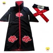 Manto Naruto Akatsuki c/ Ziper e Faixa-Tam.U (LC)