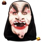 Máscara Bruxa Verrugas Látex com Capuz