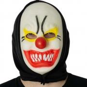 Máscara Palhaço Assustador Látex com Capuz