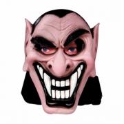 Máscara Vampiro Mau Látex com Capuz