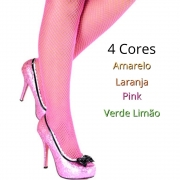 Meia Arrastão 7/8 Cores Neon