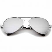 Óculos Policial Espelhado Prata