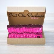 Pó Colorido para Chá de Revelação C/10 Rosa