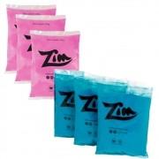 Pó Colorido Zim Color para Chá de Revelação 3 Rosa e 3 Azul