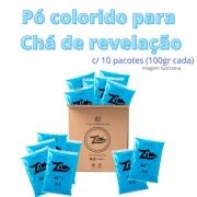 Pó Colorido Zim Color para Chá de Revelação C/ 10 AZUL
