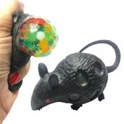 Rato de Borracha com Bolinhas em Gel Coloridas