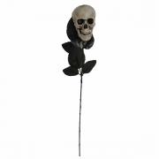 Rosa Negra com Caveira 41cm